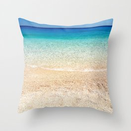 Aqua Water Beach Throw Pillow