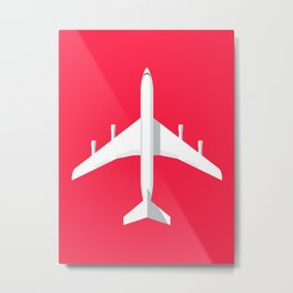 707 Passenger Jet Airliner Aircraft - Crimson Metal Print