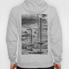 Queensferry Crossing Under Construcion in the Clouds Hoody