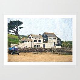 Pilchard Inn, Burgh Island, Bigbury-on-Sea Art Print