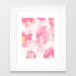 Adonia - blush pink abstract art Framed Art Print