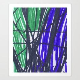 Mae's Stripe Art Print