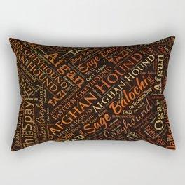 Afghan Hound Word Art Rectangular Pillow