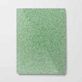 Melange - White and Dark Green Metal Print
