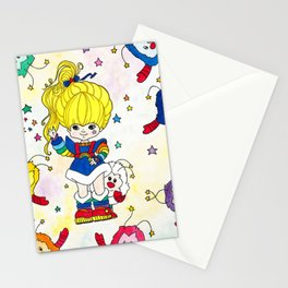 Rainbow and friends Stationery Cards