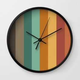 Embossed Stripes Wall Clock