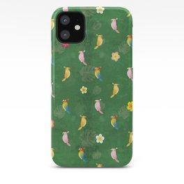 Tiki Birds - Green Pattern iPhone Case