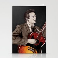 johnny cash Stationery Cards featuring Johnny Cash by Daniel Cash