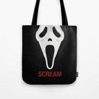 scream Tote Bags featuring SCREAM by Alejandro de Antonio Fernández