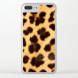 Leopard Pattern Clear iPhone Case