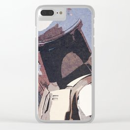 Bobba Fett | The Bounty Hunter | Star War Art Clear iPhone Case