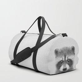 Raccoon - Black & White Duffle Bag