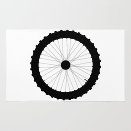 Bicycle Wheel Silhouette Rug