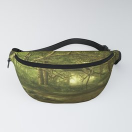 Fantasy Forest Painting Green Wood Fanny Pack
