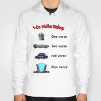 verse Hoodies featuring Fringe One Verse, Two Verse, Red Verse, Blue Verse by Passive Fluency