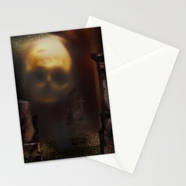 Skull Spooky Graves Stationery Cards