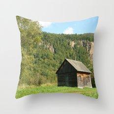 Woodcabin Throw Pillow