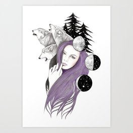 Three Moons Art Print