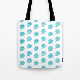 Kawaii Watercolour Ghosts (Ocean) Tote Bag