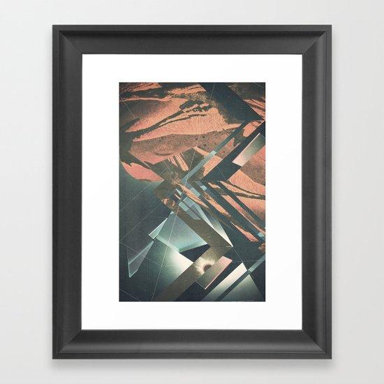 Mars Trails Framed Art Print