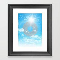 No Light No Light Framed Art Print