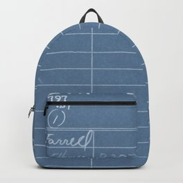 Library Card 797 Negative Blue Backpack