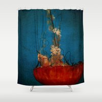 under the sea Shower Curtains featuring Under The Mystic Sea by Bella Blue Photography