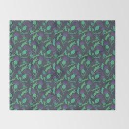 Scottish Thistle Pattern Throw Blanket