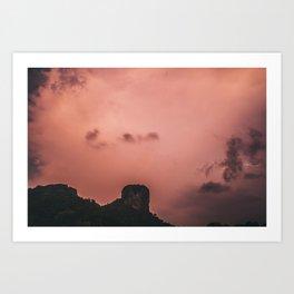 Lightning, Railay East Art Print