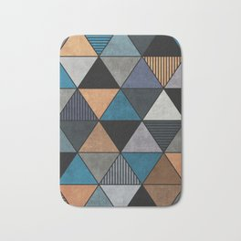 Colorful triangles 2 Bath Mat
