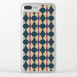 Oval and Diamond Sillouette Pattern Clear iPhone Case
