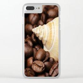 Coffee bean snail Clear iPhone Case