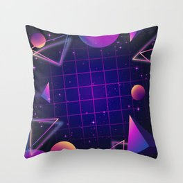 Universe Future Synthwave Aesthetic Throw Pillow