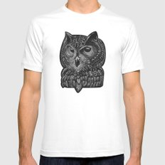 Cool owl MEDIUM Mens Fitted Tee White