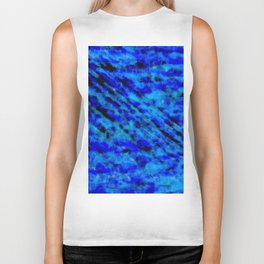 Color gradient and texture 23 dark blue Biker Tank