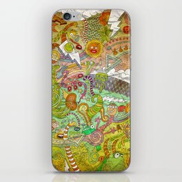 The fires of hell iPhone Skin