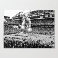 seahawks Canvas Prints featuring Seattle Seahawks, CenturyLink Field by SefoG
