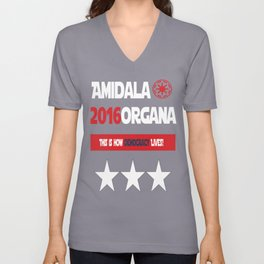 Amidala Organa Campaign Poster  Unisex V-Neck