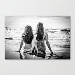 Beach Girls Canvas Print