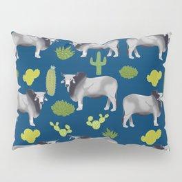 Brahman Cattle cactus southwest farm farming homestead animals Pillow Sham