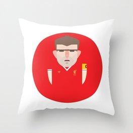 Steven Gerrard Liverpool Illustration Throw Pillow