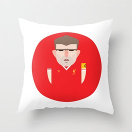 Steven Gerrard Liverpool Illustration Throw Pillow