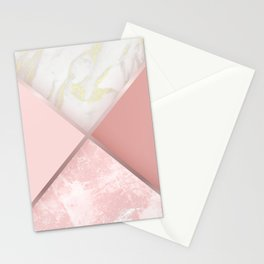 Geometric Nude Watercolor Marble Stationery Cards