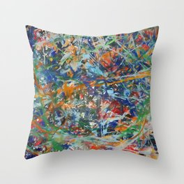 Abstract Composition 383 Throw Pillow
