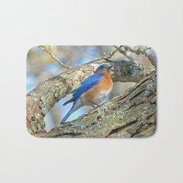 Bluebird in Tree Bath Mat