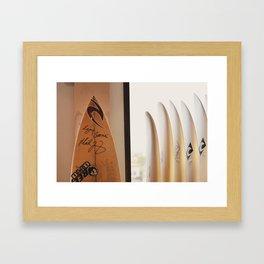 Surfboards Framed Art Print