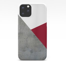 Concrete Burgundy Red White iPhone Case
