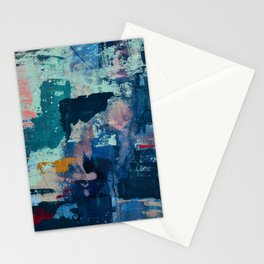 The Peace of Wild Things: a vibrant abstract piece in a variety of colors by Alyssa Hamilton Art Stationery Cards