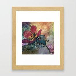 Blue Lady Framed Art Print