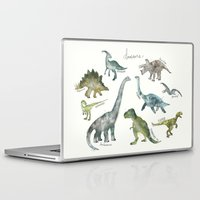 dinosaurs Laptop & iPad Skins featuring Dinosaurs by Amy Hamilton